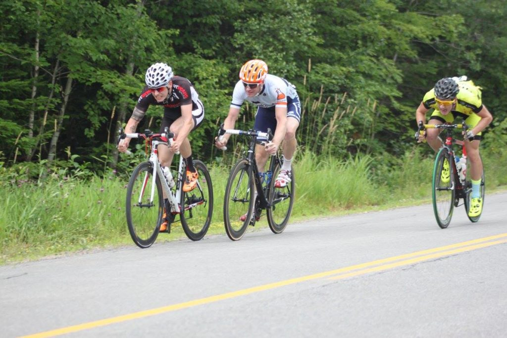 Julien and Alex sprint with Shawn Marshall. Photo by Brianne Steinman.