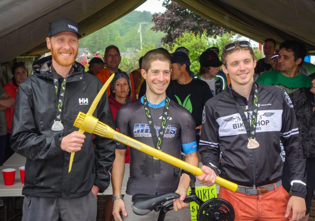 Mike Kowalski (2nd), Andre Landry (1st), and Jean Richard Cormier (3rd). Photo by Rob Linden.