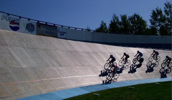 On Sunday you too can have the chance to race on the Velodrome.