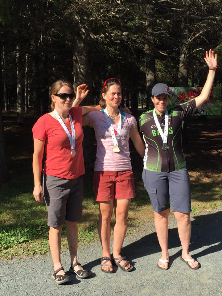 Hanham, Murray, Belanger. Solo Womens Podium.